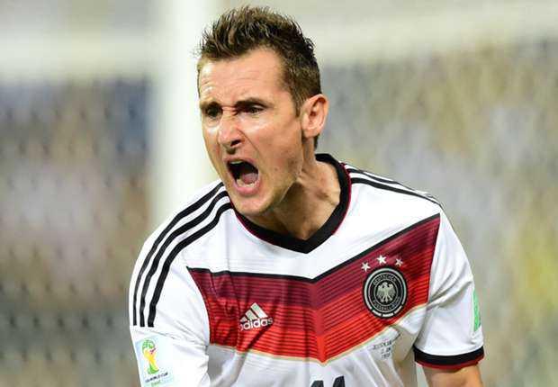 Miroslav Klose butuhkan satu gol untuk mencetak rekor baru topskor sepanjang Piala Dunia
