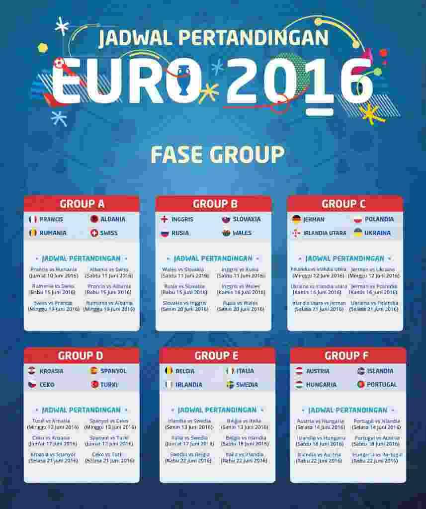 jadwal EURO 2016