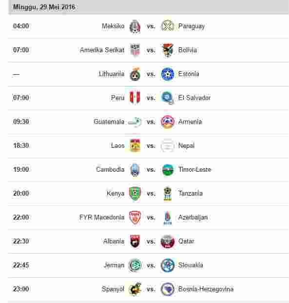 Jadwal Pertandingan Bola Hari Ini Di Sctv