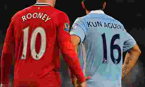 Wayne Rooney and Sergio Agüero