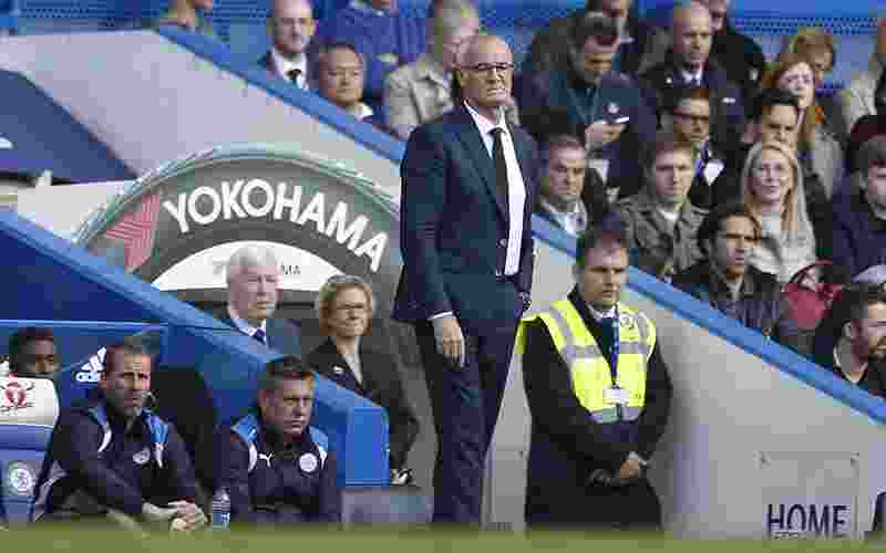 """Britain Football Soccer - Chelsea v Leicester City - Premier League - Stamford Bridge - 15/10/16 Leicester City manager Claudio Ranieri  Action Images via Reuters / Andrew Couldridge Livepic EDITORIAL USE ONLY. No use with unauthorized audio, video, data, fixture lists, club/league logos or """"live"""" services. Online in-match use limited to 45 images, no video emulation. No use in betting, games or single club/league/player publications. Please contact your account representative for further details."""