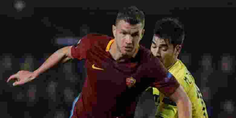 Edin Dzeko Lewati Rekor Gol Totti di AS Roma