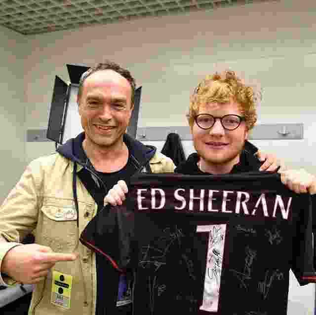 Ini Loh Klub Sepak Bola Favorit Penyanyi Ed Sheeran