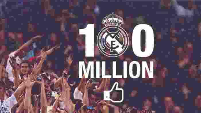 Real Madrid, Klub Sepakbola Pertama yang Memiliki 100 Juta Like di Facebook