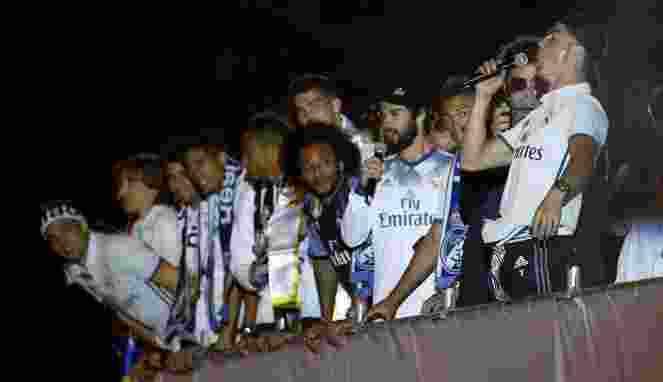 Insiden Tindakan Tak Terpuji Pemain Madrid Saat Rayakan Pesta Juara La Liga