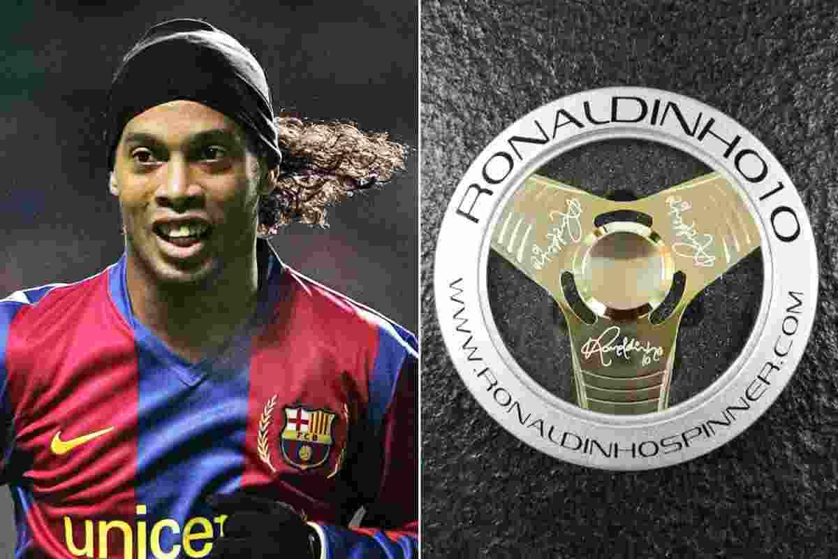 Superstar Bola Ronaldinho Jualan Fidget Spinner