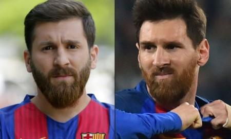 Ini yang Terjadi Bila Messi KW Bertemu Dengan Lionel Messi Asli