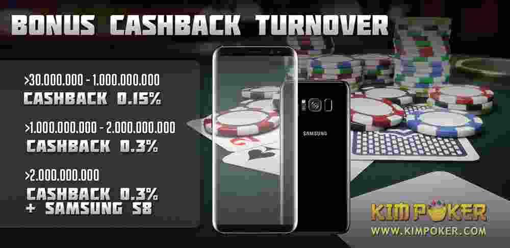 cashback turnover kimpoker