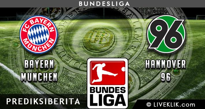 Prediksi Bayern Munchen vs Hannover 96