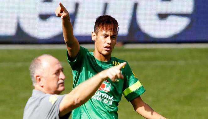Scolari dan Neymar Cemas Brasil Lawan Chile